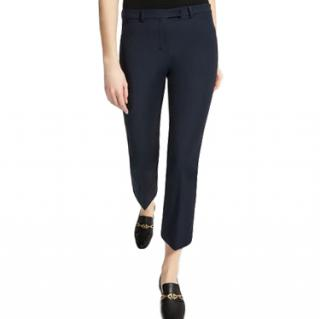 S'Max Mara slim-fit stretch cotton blend navy trousers
