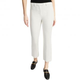 S'Max Mara slim-fit stretch cotton blend nude trousers