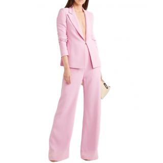 Brandon Maxwell Pink Crepe Suit
