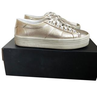 Saint Laurent Metallic Court Classic Sneakers SL/39