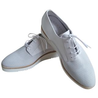 Nero Giardini White Lace-Up Derbies