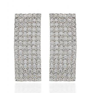 Alessandra Rich Rectangular Crystal Earrings