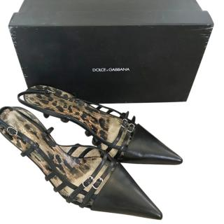Dolce & Gabbana Kitten Heel Buckle Pumps