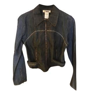 Chloe Studded Demin Jacket