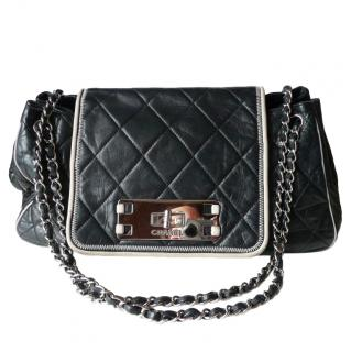 Chanel Black & White Accordion Flap Bag
