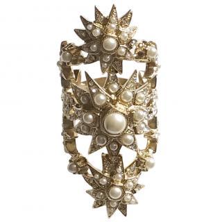 Chanel Pearl Starburst Ring
