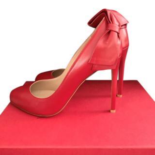 Valentino Garavani Red Pretty Bow Pumps
