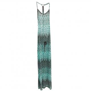 Missoni Knit Turquoise Maxi Dress