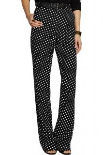 Bottega Veneta Wide-Leg Polka-Dot Trousers