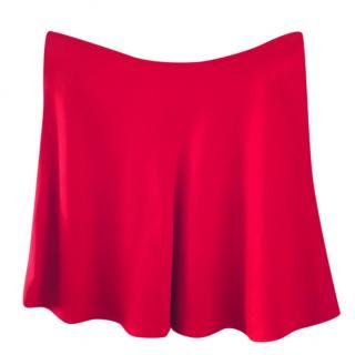 Prada Red A-line Mini Skirt