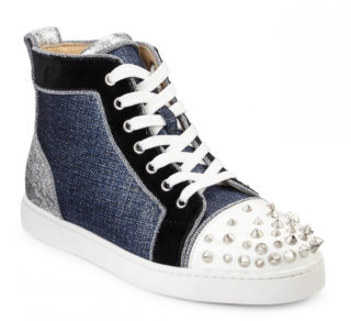 Christian Louboutin Lou Degra Spikes Hi-top Sneakers