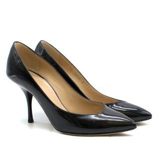 Giuseppe Zanotti Black Patent Leather Stiletto Pumps