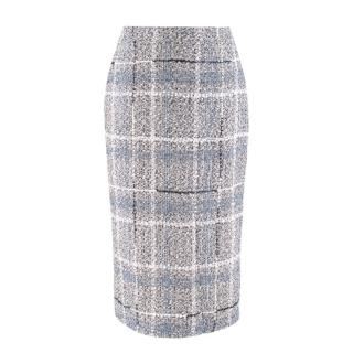 Alessandra Rich Metallic Tweed Pencil Skirt