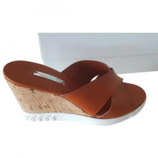 Casadei Tan Leather Mules