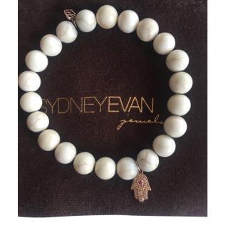 Sydney Evan Howlite, Rose gold, diamond & ruby bracelet