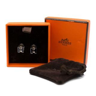 Hermes Black Cage d'H Earrings