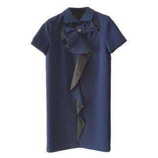Elisabetta Franchi blue box shape midi dress