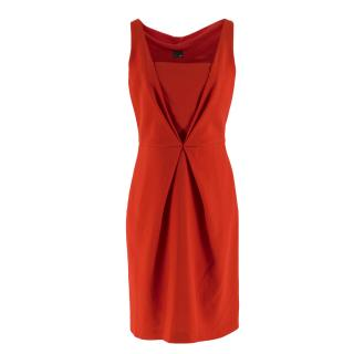 Fendi Red V-Neck Mini Dress
