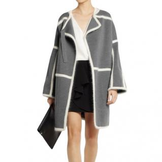 Chloe Anthracite Wool Blanket Coat