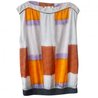 Marni Colourblock Sleeveless Shift Top