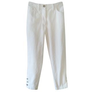 Chanel Boutique White Capri Jeans