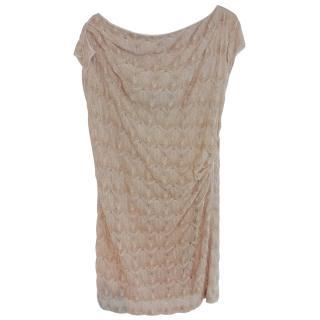 Missoni Lurex Gold Draped Dress