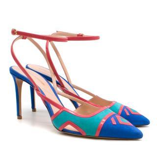 Nicholas Kirkwood Hot Sale Outliner Ankle-Strap Suede Pump