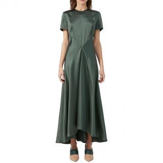 Sportmax Sage Green Envers Satin Dress