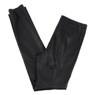 Proenza Schouler Black Lambskin Leather Trousers