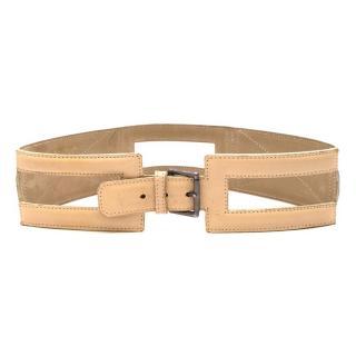 Alaia Beige Leather Waist Belt