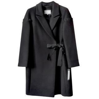 Grace & Oliver tie-side wool-blend coat
