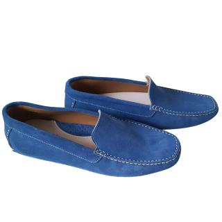 Bruno Parmigiani blue suede loafers