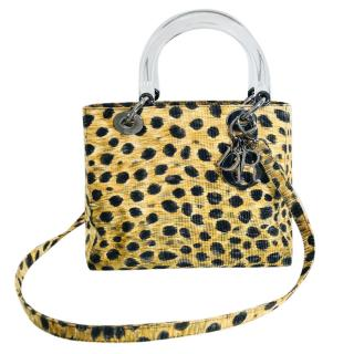 Dior Lady Dior leopard-print bag