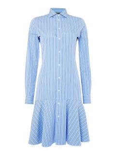 Ralph Lauren Polo Alexis Shirt Dress in Blue