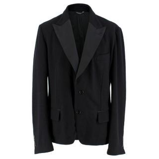 Dolce & Gabbana Men's Black Wool-blend Tailored Jacket
