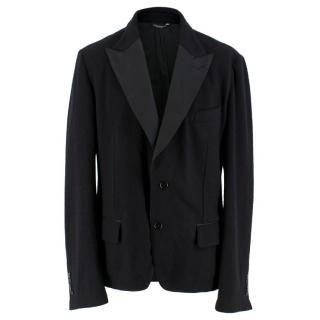 Dolce & Gabbana Men's Black Wool-blend Tailored Jacket