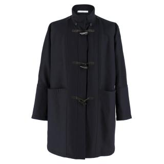 Bamford Navy Wool Duffle Coat