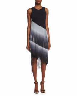 Haute Hippie The Cowgirl Ombre Fringe Dress