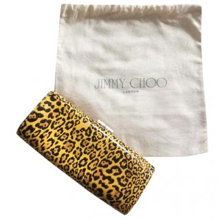 Jimmy Choo leopard-print clutch