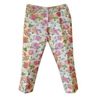 Dolce & Gabbana Rose-jacquard trousers