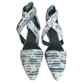 Alexander Wang Snake Effect Wrap Sandals