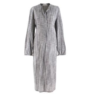 Bamford Grey Checkered Oversized Shirt Dress