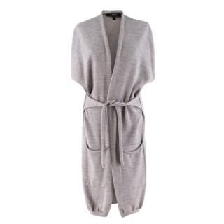 Weekend Maxmara Grey Sleeveless Wool Cardigan