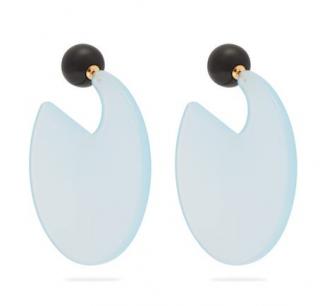 Marni Sky Blue Resin Round Earrings