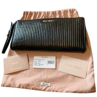 Miu Miu Quilted Black Clutch Bag