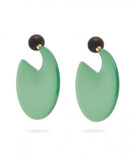 Marni Green Resin Circle Earrings