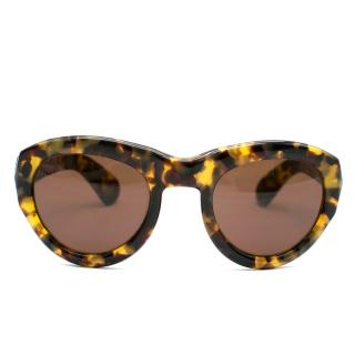 Dries Van Noten x Linda Farrow Tortoiseshell Sunglasses