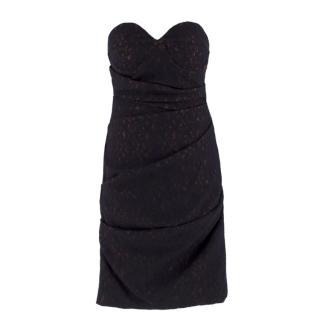 Preen By Thornton Bregazzi Black Draped Lace Dress