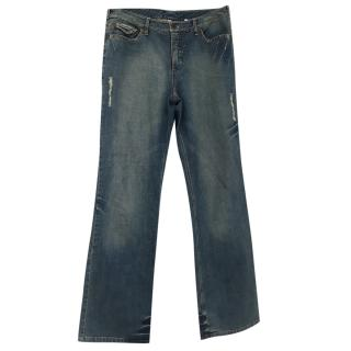 Oui Boyfriend Jeans W/Floral Pocket Details