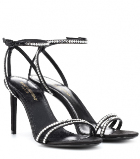 Saint Laurent Crystal Embellished Robin Sandals